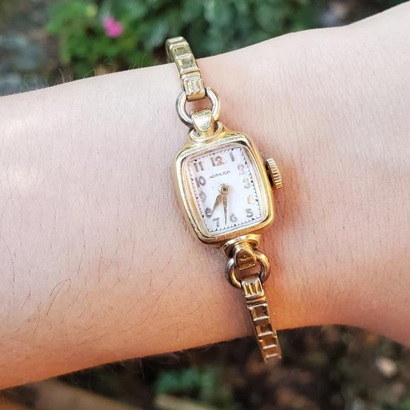 Vintage 14K GF Hamilton Designer Wristwatch